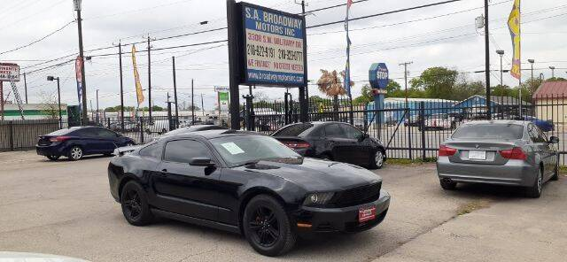 2011 Ford Mustang for sale at S.A. BROADWAY MOTORS INC in San Antonio TX