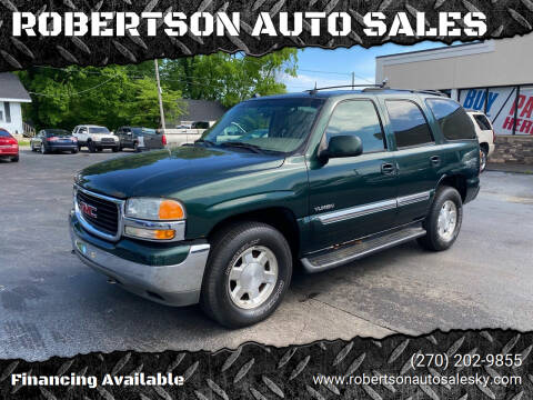 2004 GMC Yukon for sale at ROBERTSON AUTO SALES in Bowling Green KY