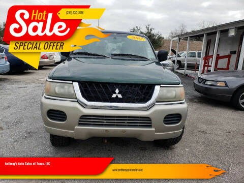 2002 Mitsubishi Montero Sport for sale at Anthony's Auto Sales of Texas, LLC in La Porte TX