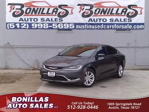 2015 Chrysler 200 for sale at Bonillas Auto Sales in Austin TX