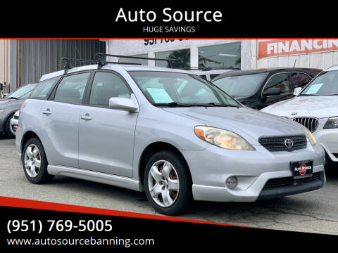 2005 Toyota Matrix for sale at Auto Source in Banning CA