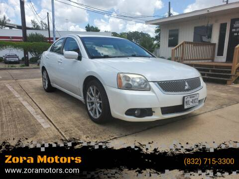 2012 Mitsubishi Galant for sale at Zora Motors in Houston TX