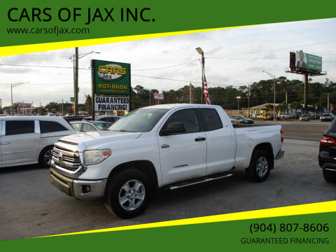 2016 Toyota Tundra for sale at CARS OF JAX INC. in Jacksonville FL
