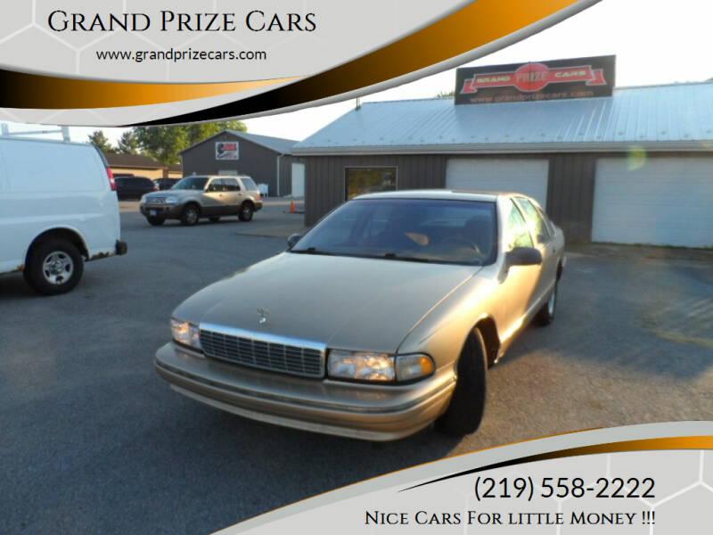 1996 Chevrolet Caprice for sale at Grand Prize Cars in Cedar Lake IN