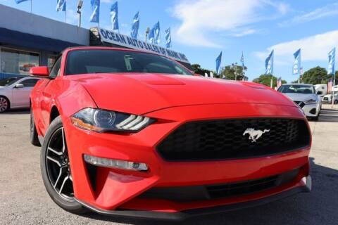 2020 Ford Mustang for sale at OCEAN AUTO SALES in Miami FL