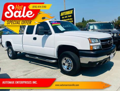 2007 Chevrolet Silverado 2500HD Classic for sale at AUTOMAX ENTERPRISES INC. in Roseville CA