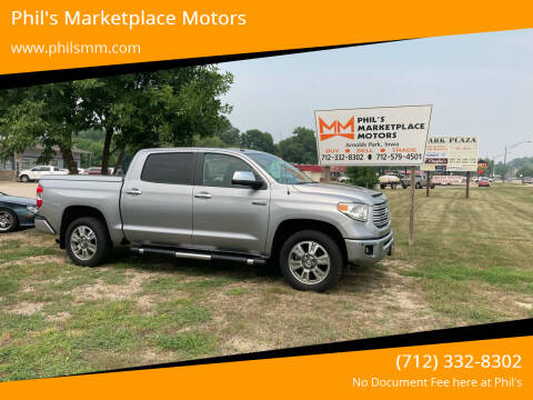 2016 Toyota Tundra for sale at Phil's Marketplace Motors in Arnolds Park IA