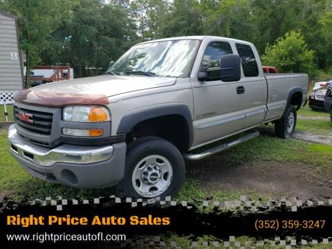 2006 GMC Sierra 2500HD for sale at Right Price Auto Sales in Waldo FL