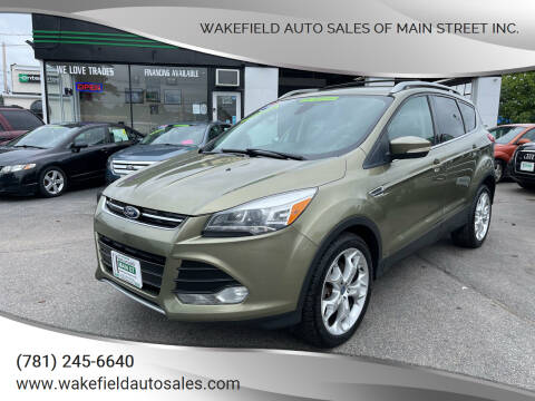 2013 Ford Escape for sale at Wakefield Auto Sales of Main Street Inc. in Wakefield MA