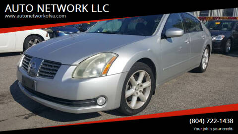 2006 Nissan Maxima for sale at AUTO NETWORK LLC in Petersburg VA