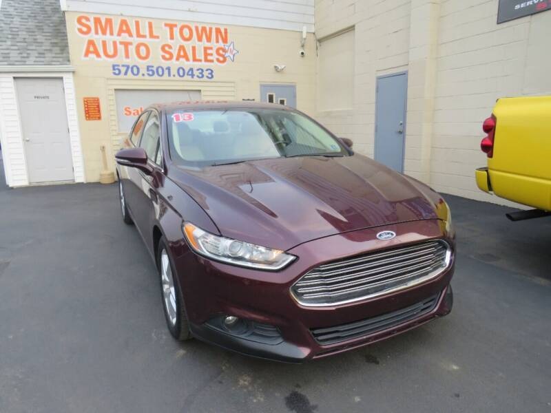 2013 Ford Fusion for sale at Small Town Auto Sales in Hazleton PA