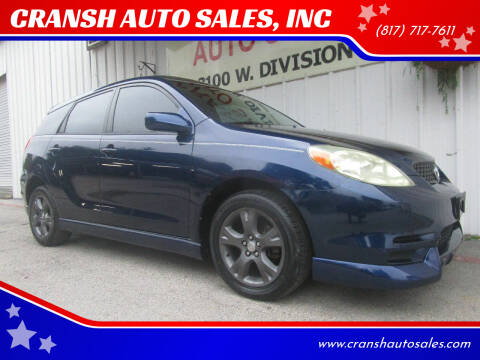 2004 Toyota Matrix for sale at CRANSH AUTO SALES, INC in Arlington TX