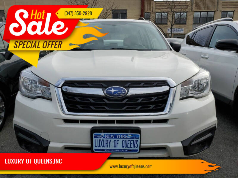 2018 Subaru Forester for sale at LUXURY OF QUEENS,INC in Long Island City NY
