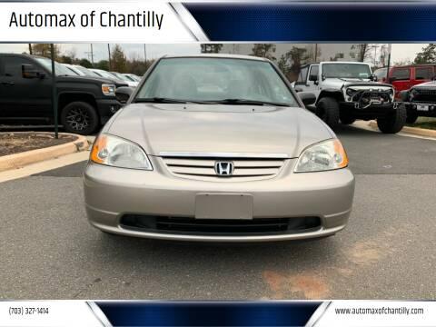 2003 Honda Civic for sale at Automax of Chantilly in Chantilly VA