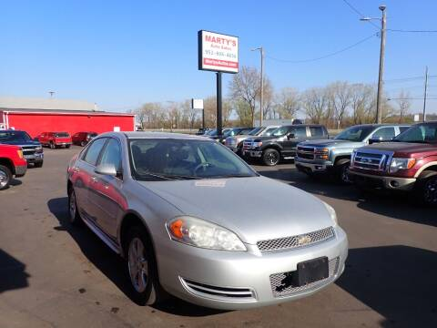 2013 Chevrolet Impala for sale at Marty's Auto Sales in Savage MN