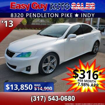 2013 Lexus IS 250 for sale at Easy Guy Auto Sales in Indianapolis IN