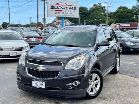 2013 Chevrolet Equinox for sale at Supreme Auto Sales in Chesapeake VA