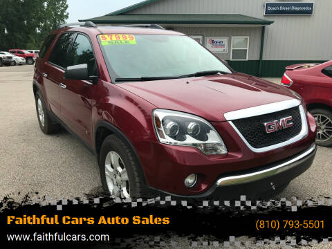 2010 GMC Acadia for sale at Faithful Cars Auto Sales in North Branch MI