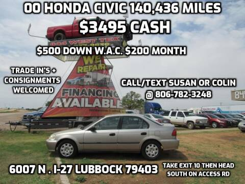 2000 Honda Civic for sale at West Texas Consignment in Lubbock TX