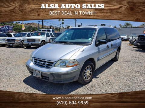 2000 Ford Windstar for sale at ALSA Auto Sales in El Cajon CA