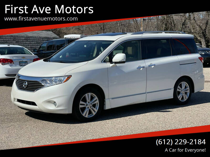 2012 Nissan Quest for sale at First Ave Motors in Shakopee MN