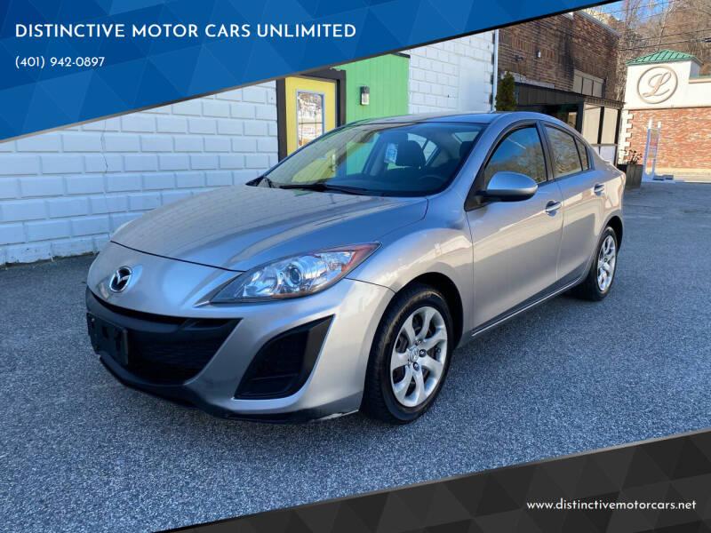 2010 Mazda MAZDA3 for sale at DISTINCTIVE MOTOR CARS UNLIMITED in Johnston RI