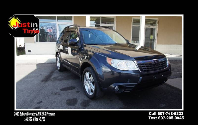2010 Subaru Forester for sale at Just In Time Auto in Endicott NY