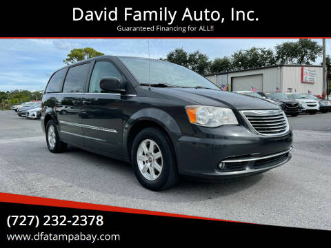 2012 Chrysler Town and Country for sale at David Family Auto, Inc. in New Port Richey FL