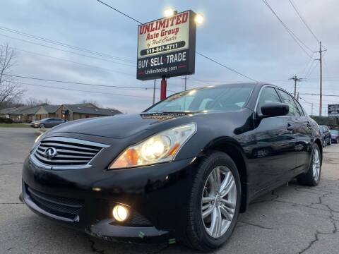 2011 Infiniti G37 Sedan for sale at Unlimited Auto Group in West Chester OH