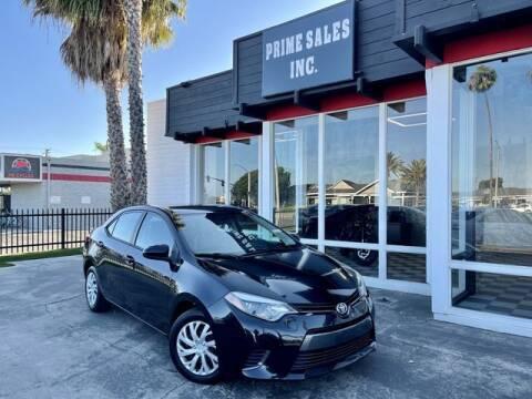 2015 Toyota Corolla for sale at Prime Sales in Huntington Beach CA