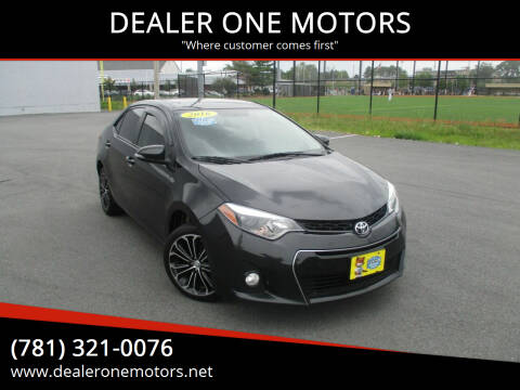 2016 Toyota Corolla for sale at DEALER ONE MOTORS in Malden MA