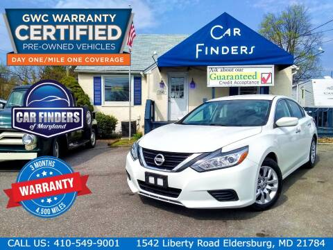 2018 Nissan Altima for sale at CAR FINDERS OF MARYLAND LLC - Certified Cars in Eldersburg MD