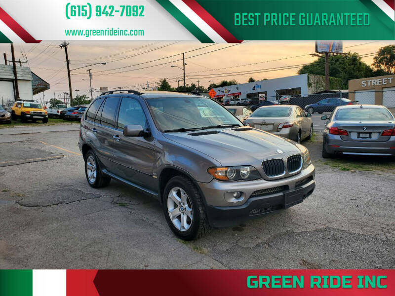 2006 BMW X5 for sale at Green Ride Inc in Nashville TN