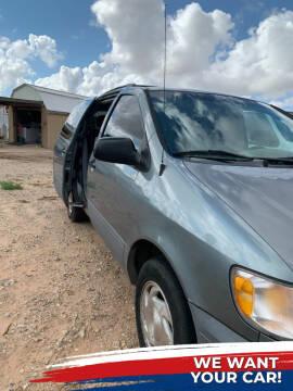 2000 Toyota Sienna for sale at BENHAM AUTO INC in Lubbock TX