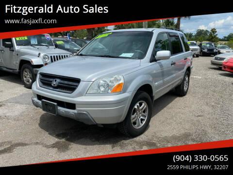2004 Honda Pilot for sale at Fitzgerald Auto Sales in Jacksonville FL