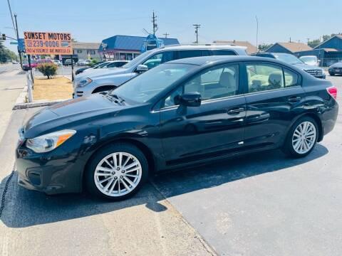 2012 Subaru Impreza for sale at Sunset Motors in Manteca CA