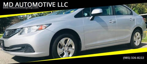 2013 Honda Civic for sale at MD AUTOMOTIVE LLC in Slidell LA