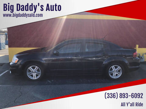 2012 Dodge Avenger for sale at Big Daddy's Auto in Winston-Salem NC