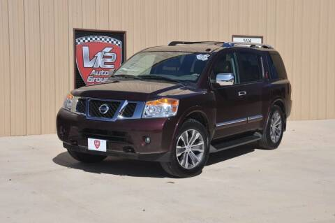 2015 Nissan Armada for sale at V12 Auto Group in Lubbock TX