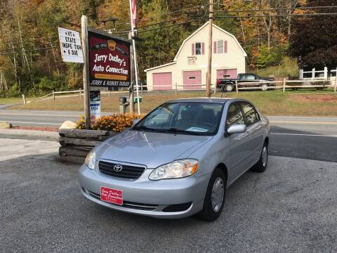 2007 Toyota Corolla for sale at Jerry Dudley's Auto Connection in Barre VT