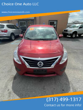 2017 Nissan Versa for sale at Choice One Auto LLC in Beech Grove IN