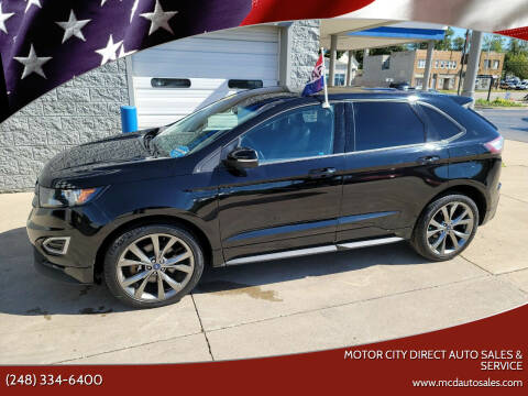 2016 Ford Edge for sale at Motor City Direct Auto Sales & Service in Pontiac MI