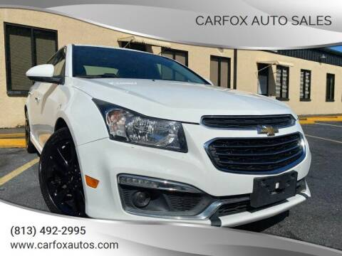 2015 Chevrolet Cruze for sale at Carfox Auto Sales in Tampa FL