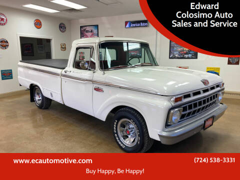 1965 Ford F-100 for sale at Edward Colosimo Auto Sales and Service in Evans City PA