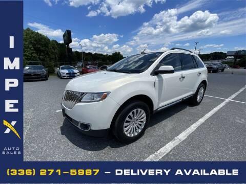 2013 Lincoln MKX for sale at Impex Auto Sales in Greensboro NC