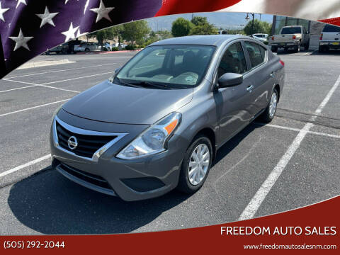 2016 Nissan Versa for sale at Freedom Auto Sales in Albuquerque NM