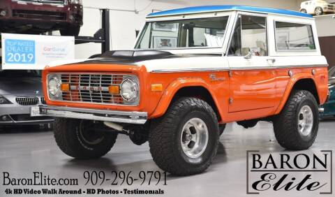 1973 Ford Bronco for sale at Baron Elite in Upland CA