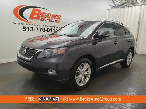 2010 Lexus RX 450h for sale at Becks Auto Group in Mason OH