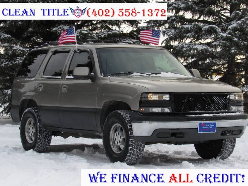 2001 Chevrolet Tahoe for sale at NY AUTO SALES in Omaha NE