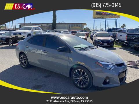 2016 Toyota Corolla for sale at Escar Auto in El Paso TX